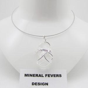 Bergkristal hanger gratis spang H BER 001