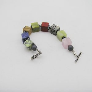 Multi color kwarts agaat armband A MUL 028