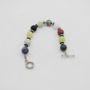 Multi Color kwarts agaat armband A MUL 029