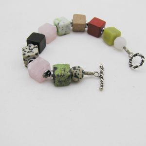 Multi color kwarts agaat armband A MUL 027