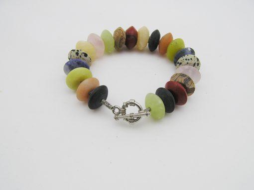 Multi color kwarts / agaat armband A MUL 021