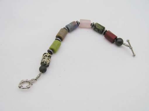 Multi color kwarts / agaat armband A MUL 024