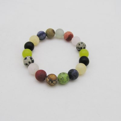 Multi Color kwarts agaat armband A MUL EL
