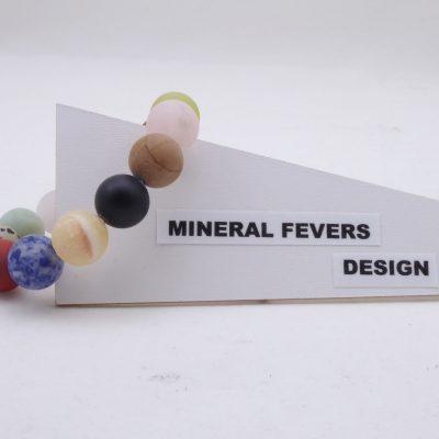 Multi Color kwarts agaat armband A MUL 14 mm