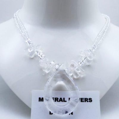 Bergkristal ketting K BER 244